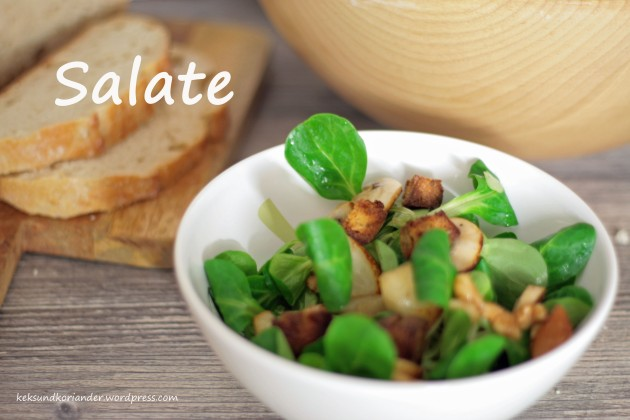 salate wintersalat mit walnüssen und karamellisierten Birnen