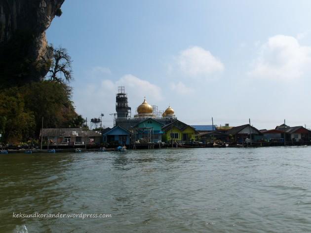 Muslimisches Dorf auf See Thailand