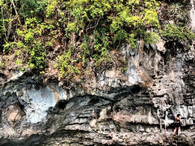 Klettern Karstfelsen Rai Leh Krabi DWS Thailand Deep Water Soloing
