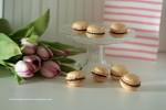 Macarons mit Schokoladenfüllung