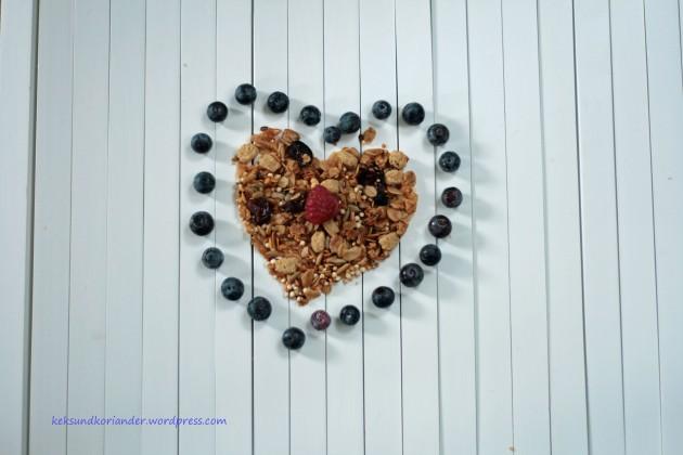 selbstgemachtes Granola mit Superfood