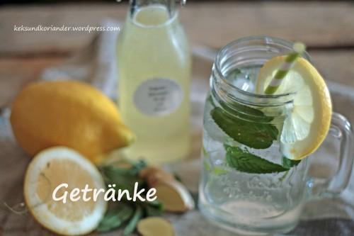 Zitronen-Ingwer-Sirup mit Minze Getränke