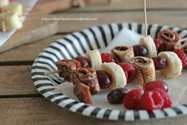 kakaopfannkuchen zimtpfannkuchen obst