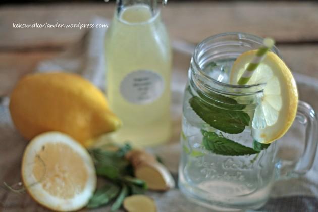 Zitronen-Ingwer-Sirup mit Minze