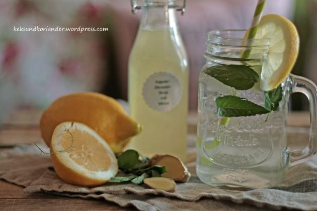 Zitronen-Ingwer-Sirup mit Minze3