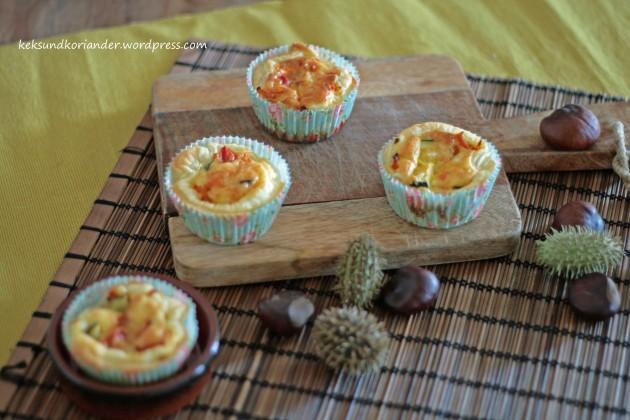 Mini Quiche mit Blätterteig und Gemüse3