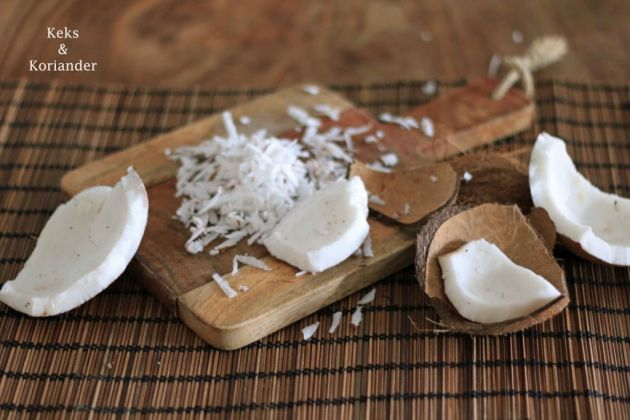 frische Kokosnuss Porridge