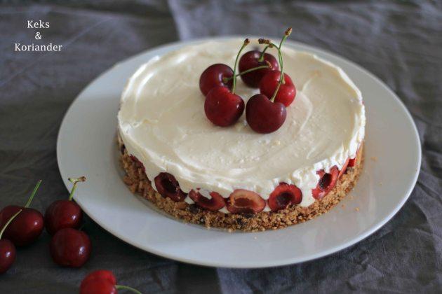 No Bake Cheesecake mit griechischem Joghurt und Kirschen 2