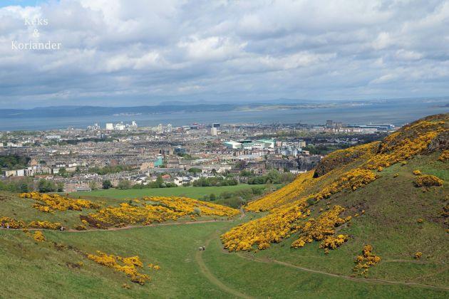 Edinburgh Schottland Arthur´s Seat Ausblick