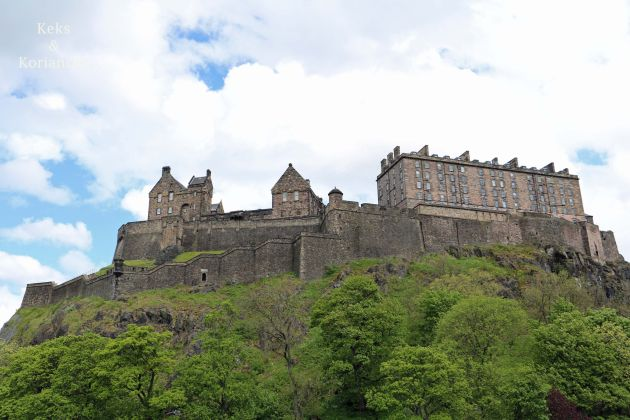 Edinburgh Schottland Castle Old Town