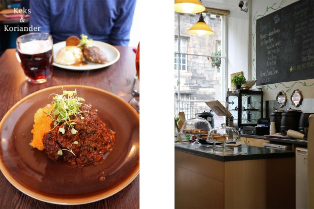 Edinburgh Schottland Essen Rinderbacke Cafe