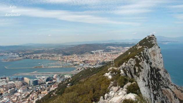Aussicht vom Fels von Gibraltar Andalusien