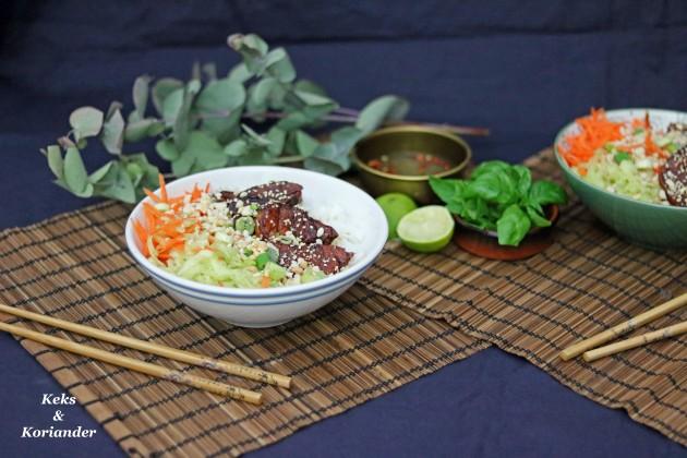 Bun Cha vietnamesisch Schweinefleisch karamellisiert 3