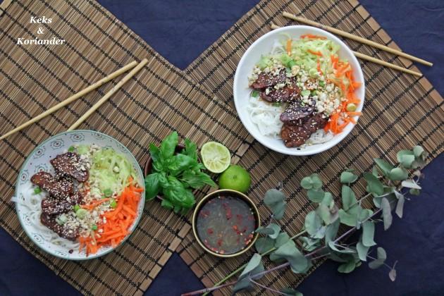 Bun Cha vietnamesisch Schweinefleisch karamellisiert 4