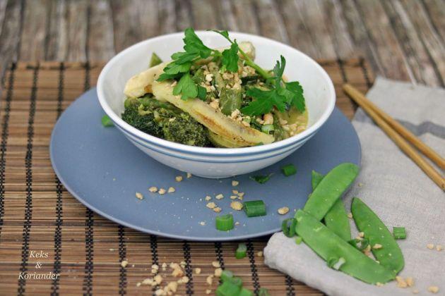 Grünes Thaicurry vegetarisch mit Banane 3