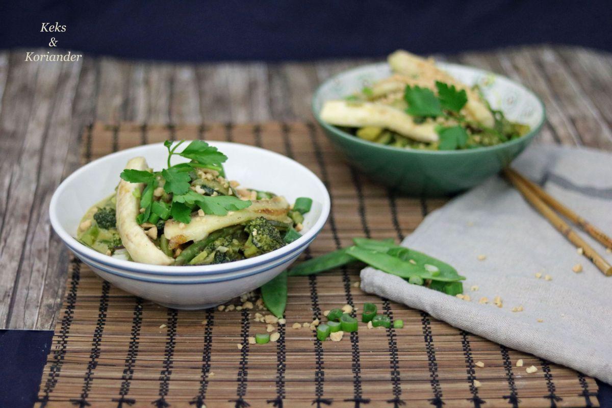 Kochen nach farben gr nes thaicurry mit banane keks koriander - Kochen nach saison ...