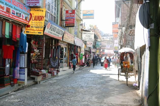 Kathmandu Nepal Straßen Thamel Läden
