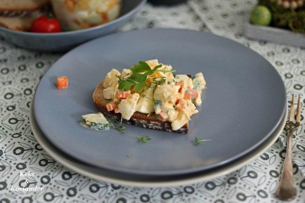 Eiersalat mit Karotten ohne Mayo zu Ostern
