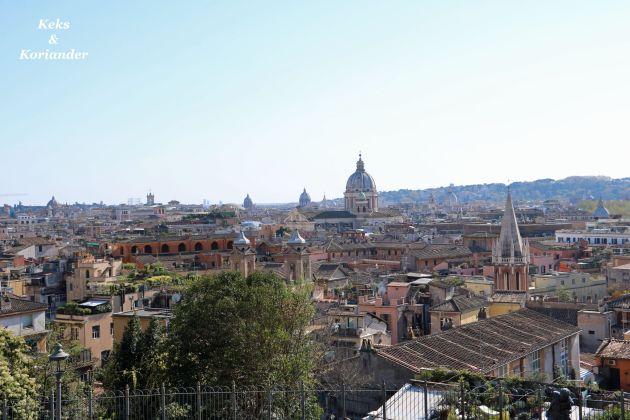 Rom Italien Blick span. Treppe Villa Medici