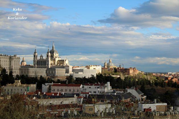 Aussicht Königspalast Madrid Spanien
