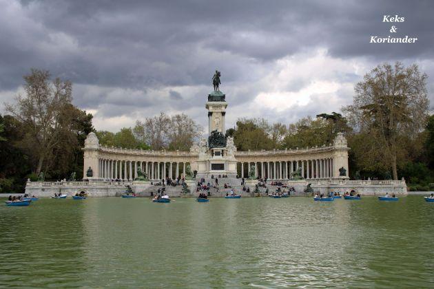 Retiro Park Madrid Spanien