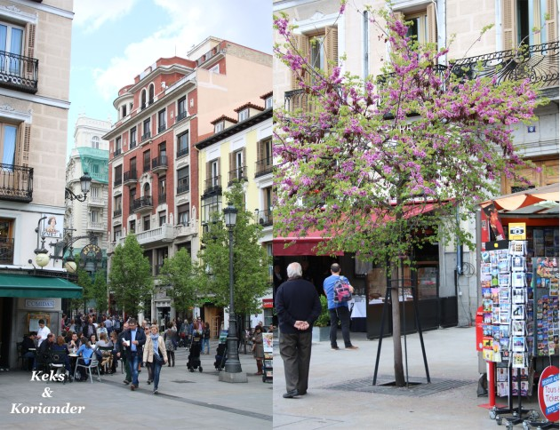 Straßenszene Madrid Spanien